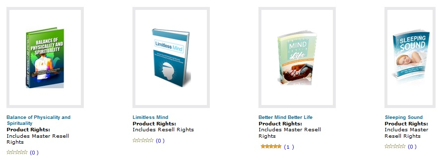 Free Master Resale Rights Products
