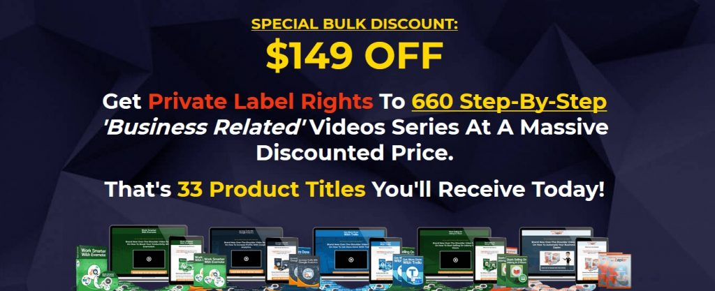 Huge business PLR video course blowout package