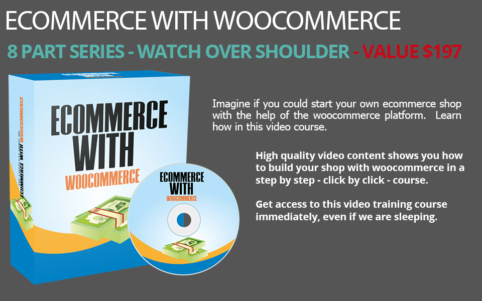 eCommerce with Woocommerce PLR Video Training Series